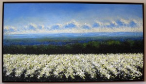 Poppy Fields, 2004, oil on canvas, 39 x 71 inches