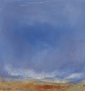 Elizabeth Da Costa Ahern, Azul, acrylic on canvas