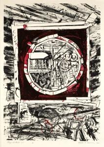 Robert S. Neuman, Pedazos del Mundo #5, Stone Lithograph